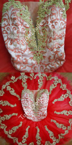Red and Gold Brocade