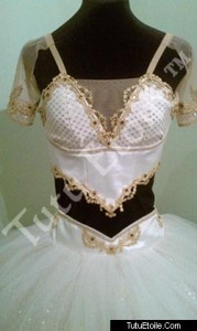 Two Piece White & Gold