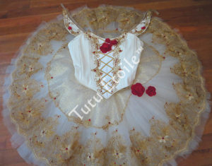 Paquita,Ivory Gold and Red